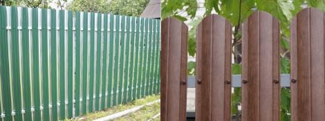 Забор из металлоштакетника